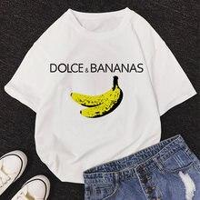 Camisa de t das mulheres oversized 2021 verão banana harajuku camisetas femininas y2k topo femme roupas casuais moda topos camiseta feminina