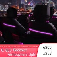 For Mercedes C/GLC class W205 X253 modified backrest atmosphere lamp original luminous rear seat light modification