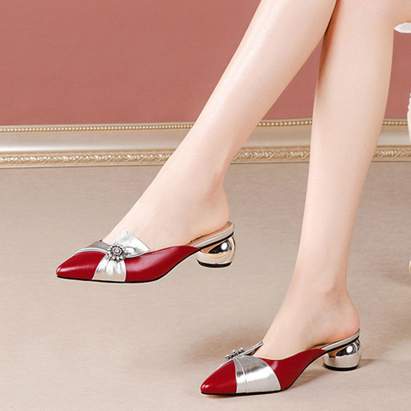 Cresfimix women fashion plus size high quality beige square heel summer shoes lady casual sweet party red high heel shoes a6518
