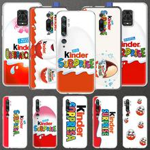Ei KINDER FREUDE Überraschung Fall für Xiaomi Redmi Hinweis 8 9 9S 8T 9A 7 7A 8A K30 pro Mi CC9 A3 10 Lite Klar Weichen Handy Fall