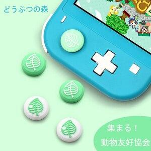 Image 2 - YuXi 4 шт. перекрещивающая кошачьи лапы и листья аналоговая рукоятка для большого пальца для nintendo Switch / Lite Joy con рукоятка чехол крышки джойстика