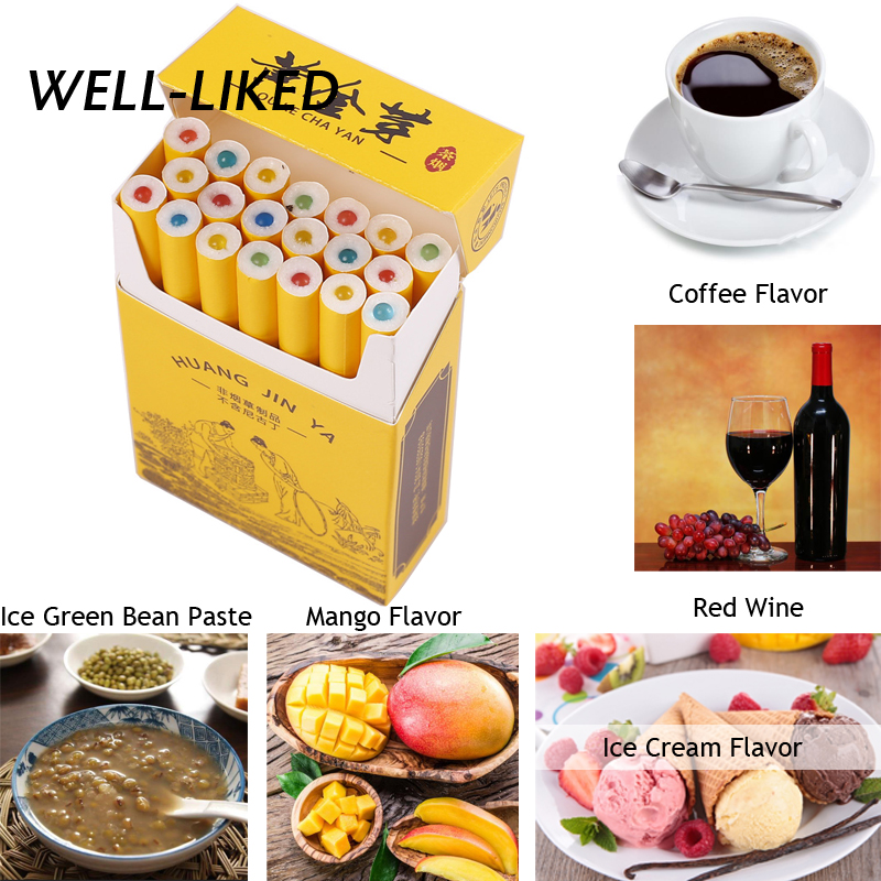 NEW 100 PCS Ice Cream Mango Coffee Red Wine Flavor Cigarette Pops Beads Cigarette Holder Holder Filter Smoking Accessories Gifts