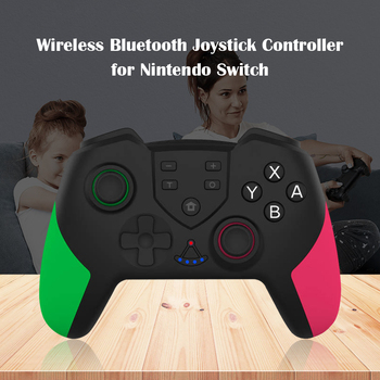 Elektroniczne akcesoria do maszyn bezprzewodowe kontrolery gier wibracyjnych do joysticka Switch PRO Bluetooth Gamepad tanie i dobre opinie VODOOL Brak NONE CN (pochodzenie) Gamepad Controller Wireless Joystick Controller DC 3 6-4 2V 2-3 H 30mA 90-120mA 0μA