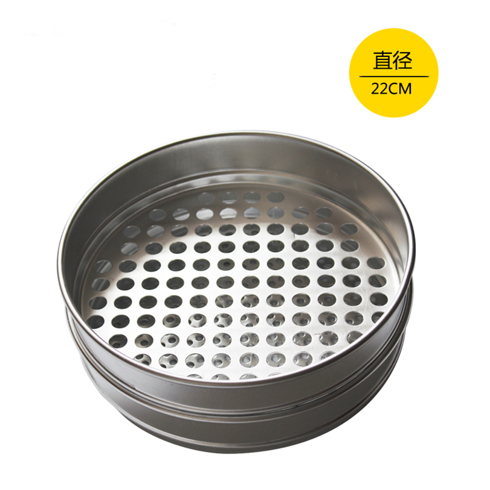 1pc 1-12mm Aperture Lab Standard Test Sieve For Cereals Stainless Steel 220mm Diam Round Holes