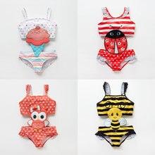 Летняя пляжная одежда для маленьких девочек цельный сиамский