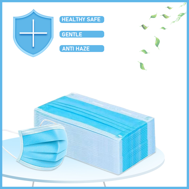 50/100PCS Disposable Mask Dust Mask Fine Smog PM 2.5 Air Filter Mask Pollen Safety Anti Proof Mascaras Windproof Mask Face Masks 1