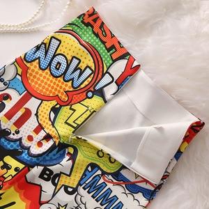 Image 5 - Phụ Nữ Bông Tai Kẹp Váy Bút Chì Nhiều Màu Sắc Hình Hoạt Hình Yeah!! Chữ Cái In Cao Cấp Mỏng Midi Chia Gợi Cảm Nữ Falda SP532
