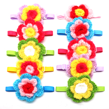 Hand-made Flower Dog Bow Tie 50/100pcs Soft Woolen Pet Supplies Cat Puppy Collar Winter Dogs Pets Accessories