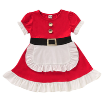Christmas Clothes Girl Child Santa Claus Cosplay Costumes Christmas Halloween Outfit Girl Kids Cute Baby Toddler Girl Clothes
