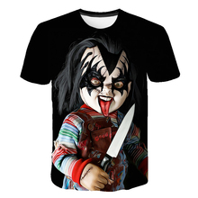 Chucky T Shirt Demon Death Scary Evil Hip Hop Satanism Grim Reaper T-shirt Supernatura Boys/Girl Tshirt American Horror Story