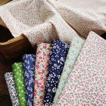 Tecido puro algodão 100% princesa crianças diy brocado vestido anime planta floral impresso costura cor macia respirável morango azul