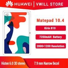 Huawei MatePad 10,4 zoll Tablet PC kirin 810 Octa Core Android 10 GPU Turbo Multi-bildschirm 7250mAh