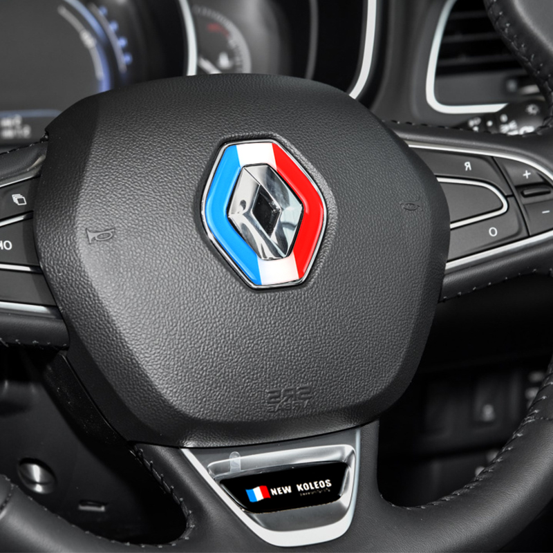 Silicone Styling Steering Wheel Decoration Trim Sticker Interior Accessories For Renault Koleos 2017 Car Styling Decoration