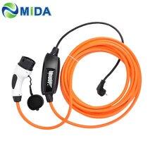 DUOSIDA EVSE 5M 10M 16Amp IEC 62196 elektrikli araç şarjı tip 2 konnektör Mennekes elektrikli araçlar araba ab Schuko