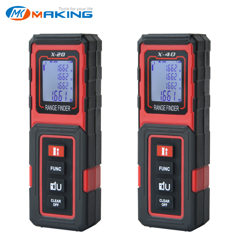 TECLASER Laser Meter Laser Distance Measurre 40M Digital Tape Measuring Device Distance Meter Digital Range Finder Tape Measure