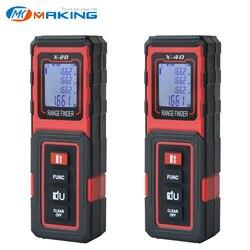 TECLASER Laser Meter Laser Distance measurre 40M Digital Tape Measuring Device Distance Meter Digital Range Finder Tape Measure