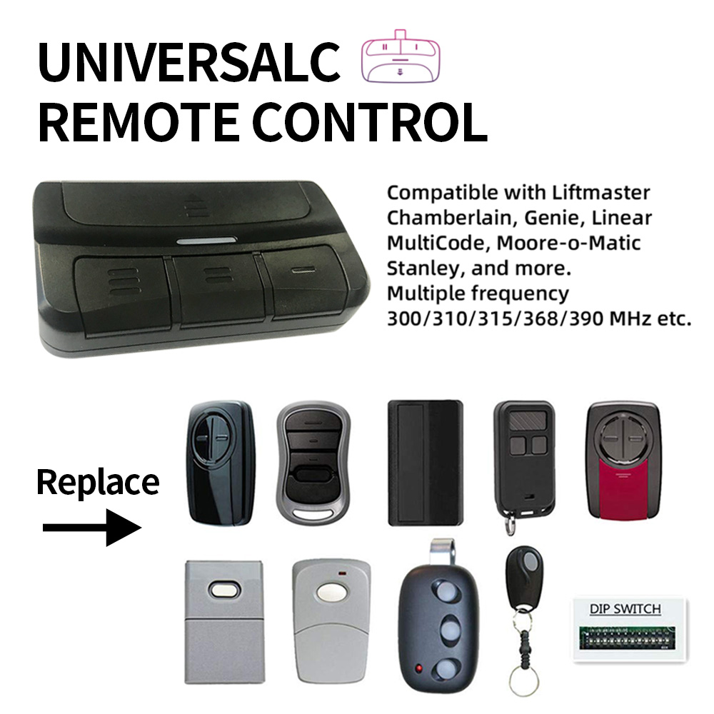 300-390mhz Universal Garage Door Remote Control For Liftmaster Chamberlain 371LM, 373LM, 375LM, 375UT, 971LM, 973LM, 893MAX