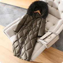 Зимние Новые поступления, женские меховые куртки с капюшоном из лисьего меха, съемные ультра теплые толстые пуховики из 90% белого утиного пуха, пальто