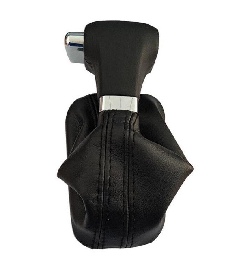 Автоматическая Ручка рычага переключения передач кожаный чехол для Skoda VW Tiguan Touran Bora Passat