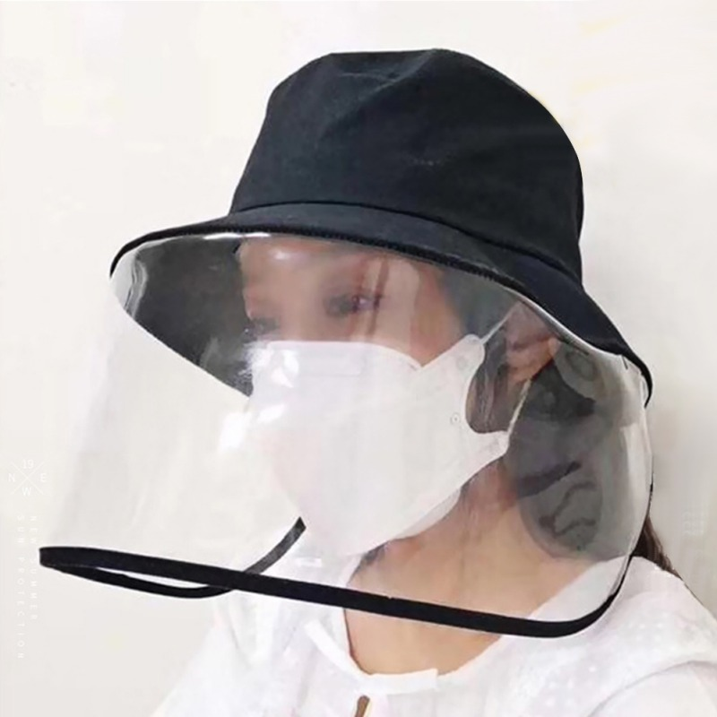 Common Hat And Protective Plastic Front Block Antivirus Hat Masks For Personal Outdoor Safety Supplies