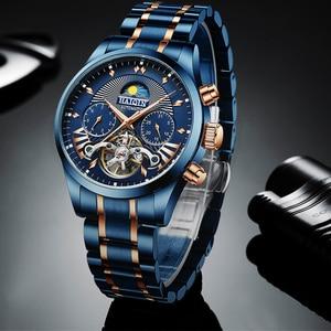 HAIQIN Mechanical mens watches top brand luxury Automatic Watch men Business sport wristwatch mens 2019 reloj hombre tourbillon
