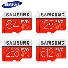 SAMSUNG – carte Micro SD EVO Plus, 32 go/64 go/128 go/256 go, SDHC/SDXC, UHS/TF, classe C10, avec emballage de vente au détail