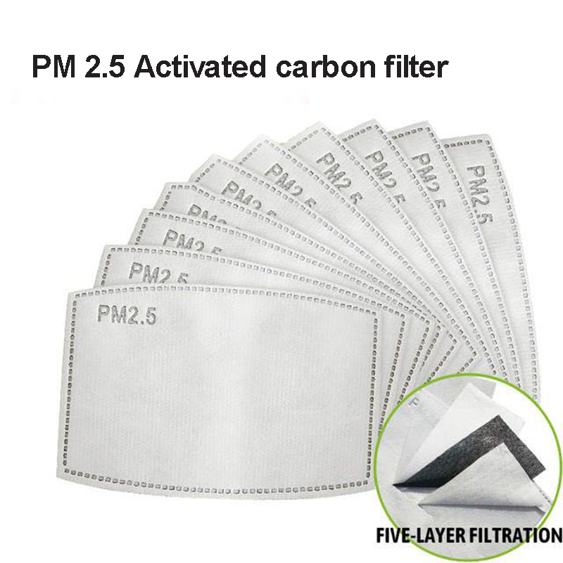 10pcs 5 Layers PM2.5 KN95 Activated Carbon Filter For Mouth Mask Dust Mask Filter Protective Filter Media Anti-Dust Masks Filter