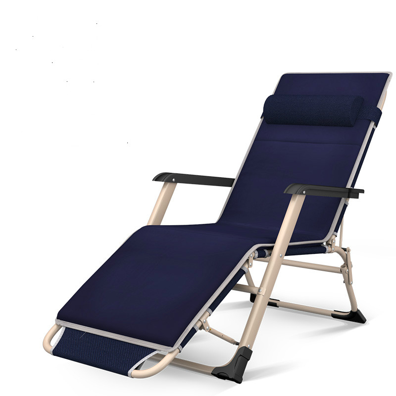 Enjoy Fun Folding Bed Single Recliner Lunch Break Simple Camp Bed Home Portable Folding Chair Office Nap Bed