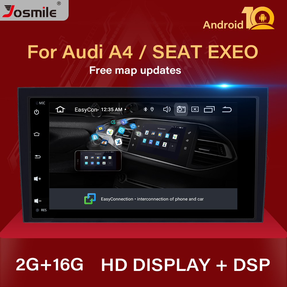 DSP Android 10 Car Radio DVD For Audi A4 B6 B7 S4 B7 B6 RS4 B7 SEAT Exeo 2002-2008 Multimedia GPS Navigation Head Unit Stereo