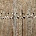Серьги-кольца женские из серебра 925 пробы, 4 шт./Лот, Z1239