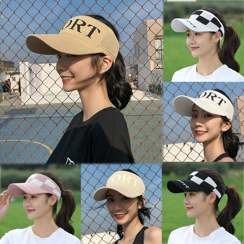 2019 Newest Hot Women Girls Sports Printed Adjustable Cap Sports Sun Summer Breathable Mesh Outdoor Hat Visors