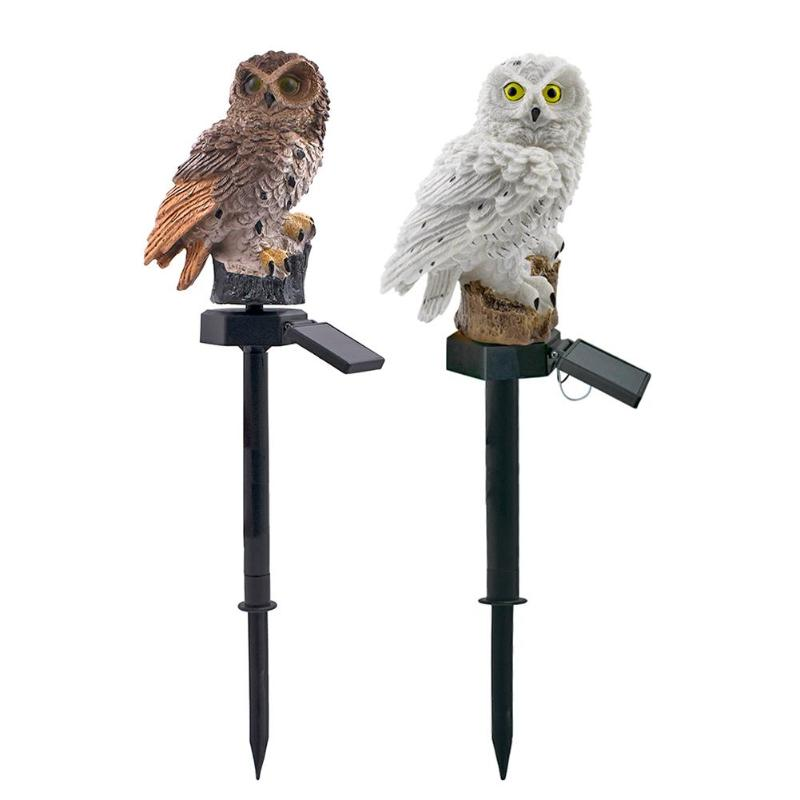 Owl Solar Light With Solar LED Panel Fake Owl Waterproof IP65 Outdoor Solar Powered Led Path Lawn Yard Garden Lamps
