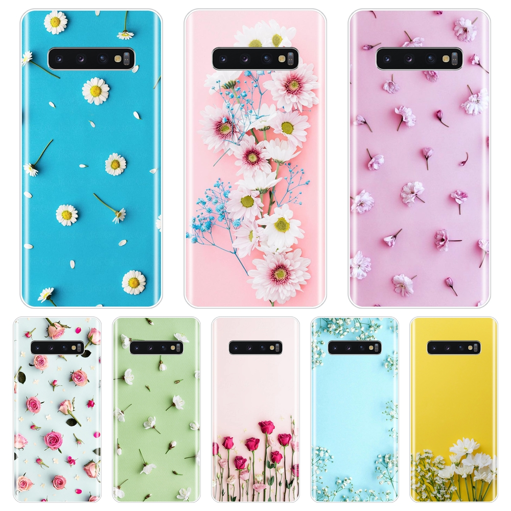 Silicone Phone <font><b>Case</b></font> For <font><b>Samsung</b></font> Galaxy Note 10 Pro Rose Flower Floral Yellow Soft Back Cover For <font><b>Samsung</b></font> Galaxy <font><b>S10E</b></font> S10 Plus 5G image