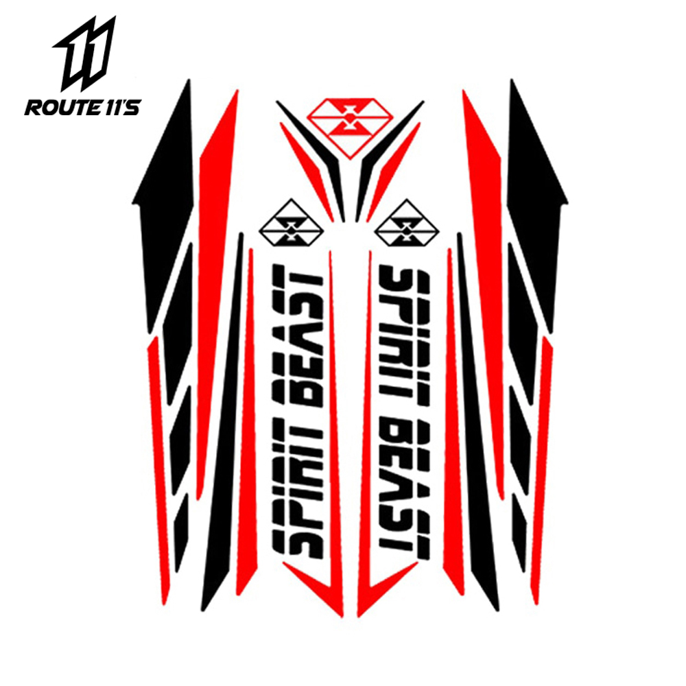 SPIRIT BEAST Motorcycle Sticker Moto Feul Tank Pad Motorbike Stickers Motocross Pegatinas Protector
