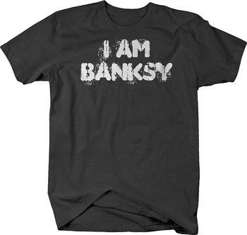 Camiseta del artista I Banksy Anonymous Camiseta de algodón de estilo libre 100%