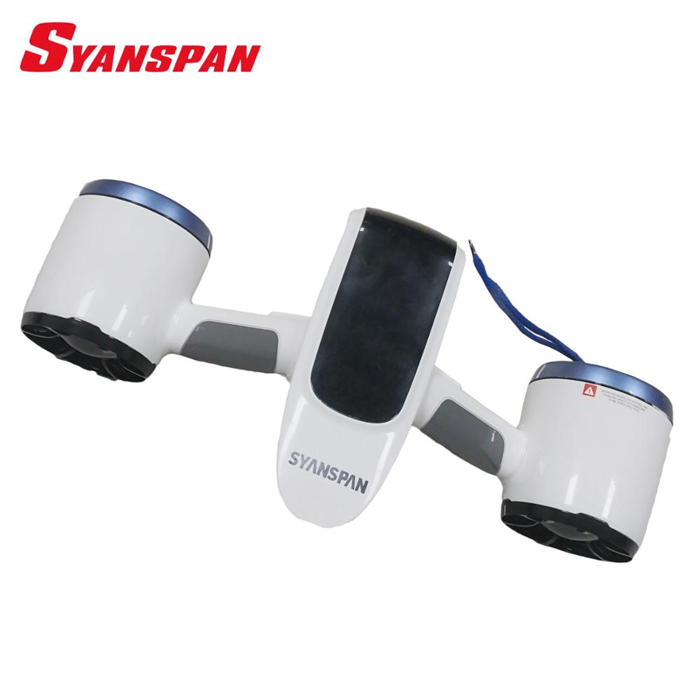SYANSPAN Underwater Booster Unisex Submersible Electric Scooter Underwater Swimming Diving Snorkeling Equipment