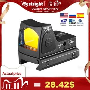 Image 1 - מיני RMR RED Dot Sight Collimator גלוק/רובה רפלקס Sight fit 20mm יבר רכבת לאיירסופט/ציד רובה