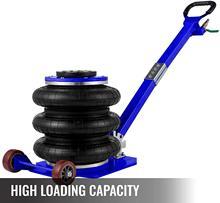 Cric pneumatique à Triple airbag, 6600 lbs, levage rapide, 3 tonnes, robuste