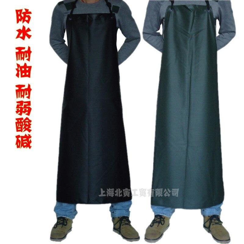 黒と白のパターンシェフ作業エプロンメンズロング革の厚さの防水耐油大型産業エプロン労働 S