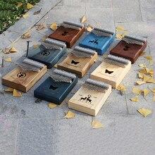 Finger-Pianos-Machine Instrument-Accessories Mahogany Thumb-Piano Kalimba Solid-Wood