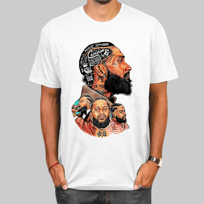 Nipsey Hussle T Shirt Summer Men TShirts Rapper Nipsey Rest In Heaven Hip Hop T Shirts Harajuku Top Streetwear