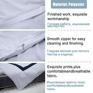 Image 5 - Yimeis ensemble de linge de lit géométrique, pour lit Double, couette, luxe, BE45005