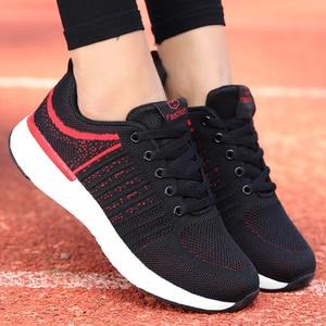Image 5 - Tênis feminino esportivo, tênis feminino de malha respirável, confortável, macio, leve, para atividades ao ar livre, para academia planos baixos