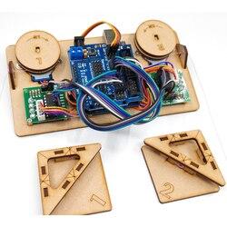 Desenhar pintura de parede robô com cabo plotter arduino maker kit projeto gráfico polar com motor diy peças de brinquedo haste