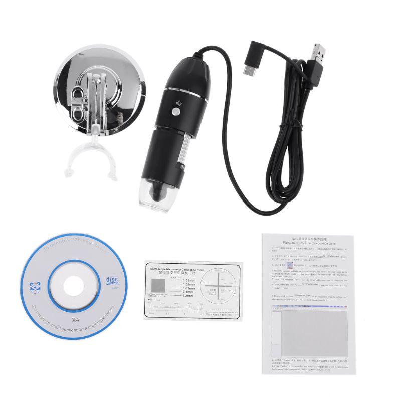 Aletler'ten Mikroskoplar'de 0 1000X dijital mikroskop kamera endoskop büyüteç 3in1 USB MicroUSB tip c cep telefonu için PC Windows OSX standı ile title=