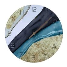 Настенные часы бесшумные кварцевые круглые стеклянные подвесные часы Современный дизайн разноцветные настенные часы для домашнего декора