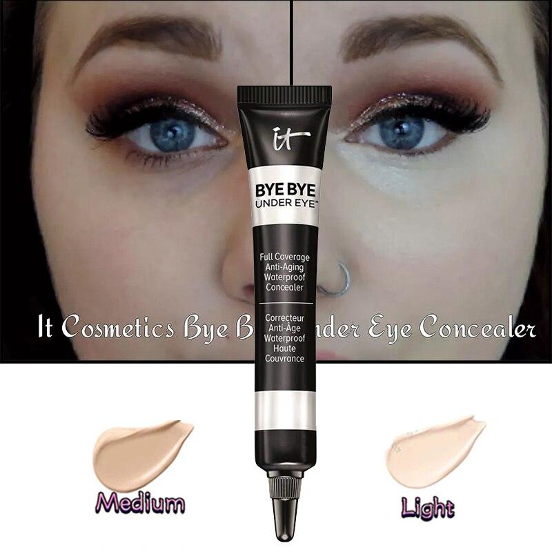 BYE BYE UNDER EYE Light & Medium Shades Maquiagem Profissional Completa Concealer  Eyeshadow Concealer It Cosmetics