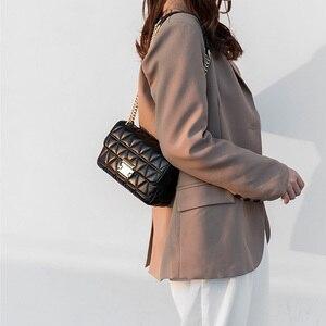 Image 5 - BRIGGS bandolera de piel sintética con cadenas para mujer, Bolso pequeño con solapa, a la moda