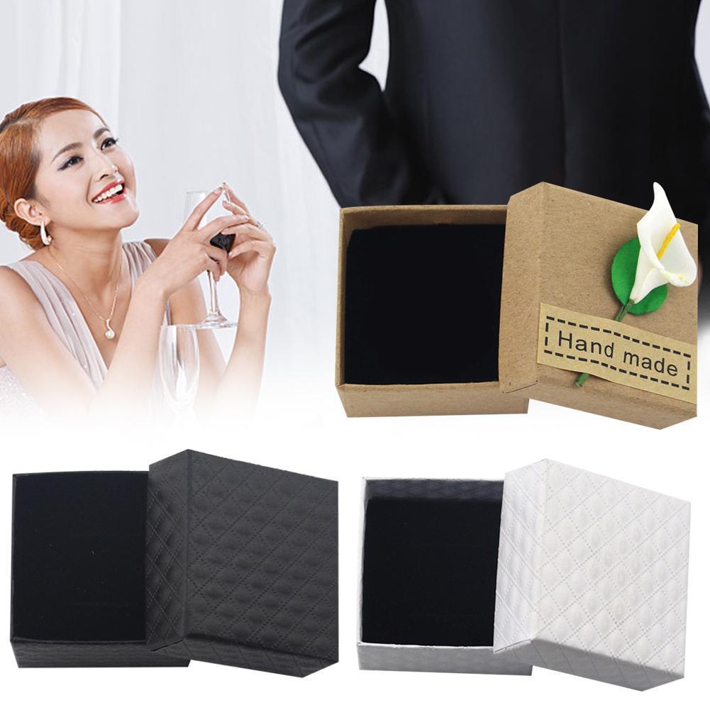 1pc Kraft Paper Carton Box Large Gift Box Black White Giftbox Lid Cardboard Paper Box Big Gift Packaging Box Cosmetic Packing