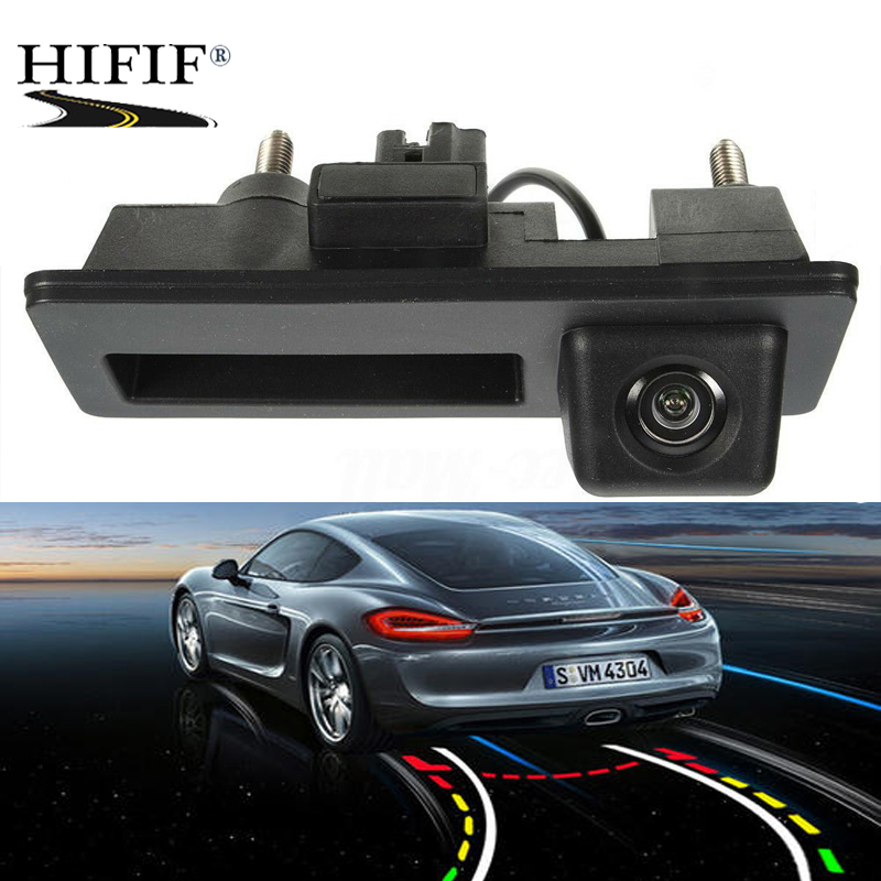CCD HD Car Trunk Handle Rear View Camera for Audi A4 A5 S5 Q3 Q5 for <font><b>VW</b></font> <font><b>Golf</b></font> Passat Tiguan Touran Jetta Touareg B6 B7 image